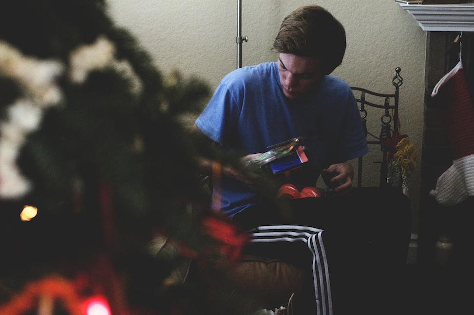 Caleb, Christmas, San Diego, California