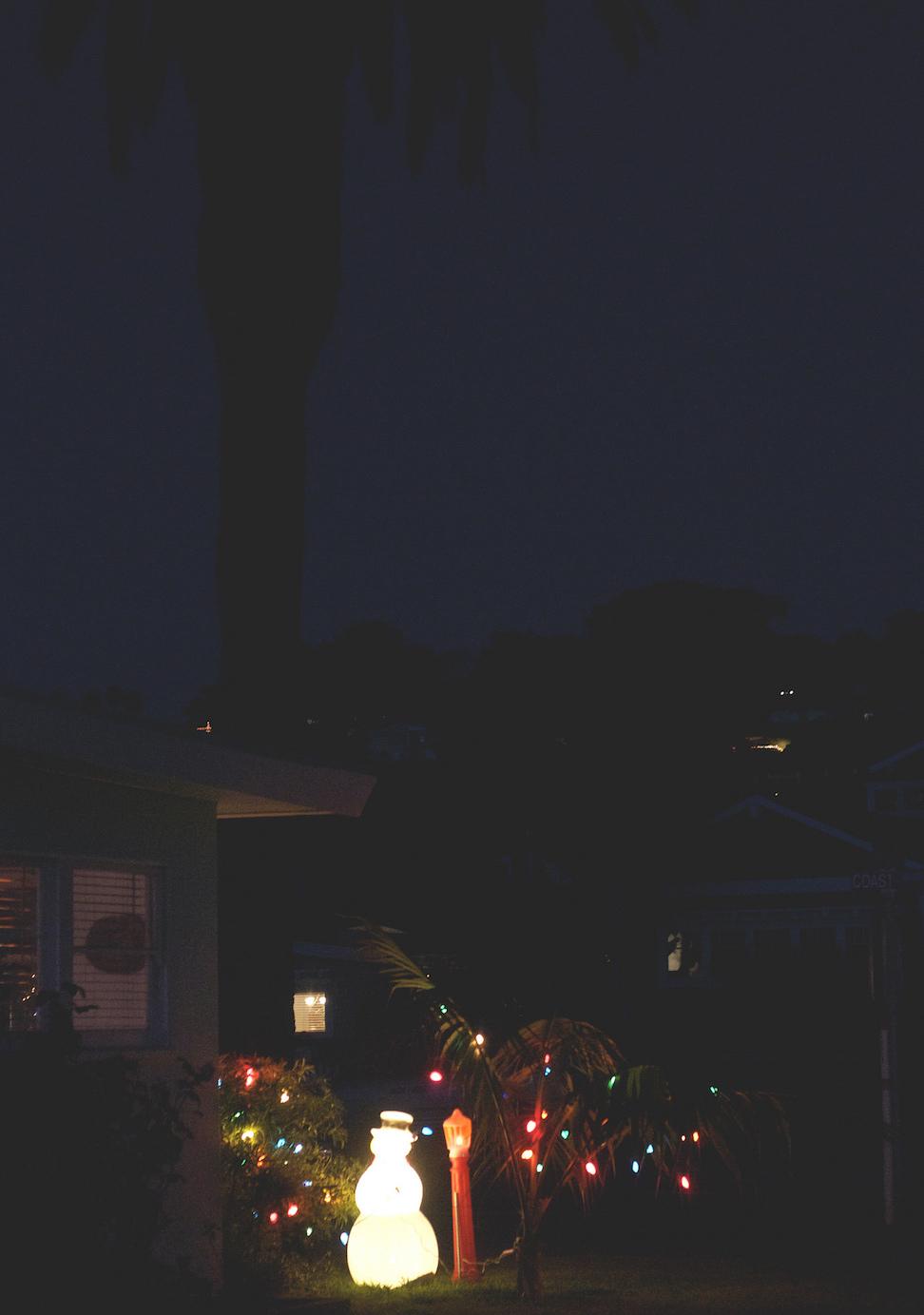 Christmas lights, Del Mar, San Diego, California