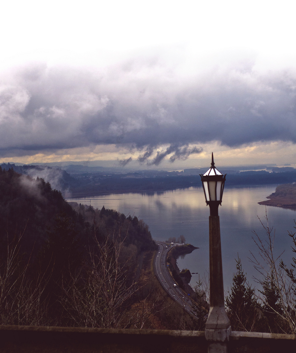 Crown Point Promontory, multnomah falls, oregon