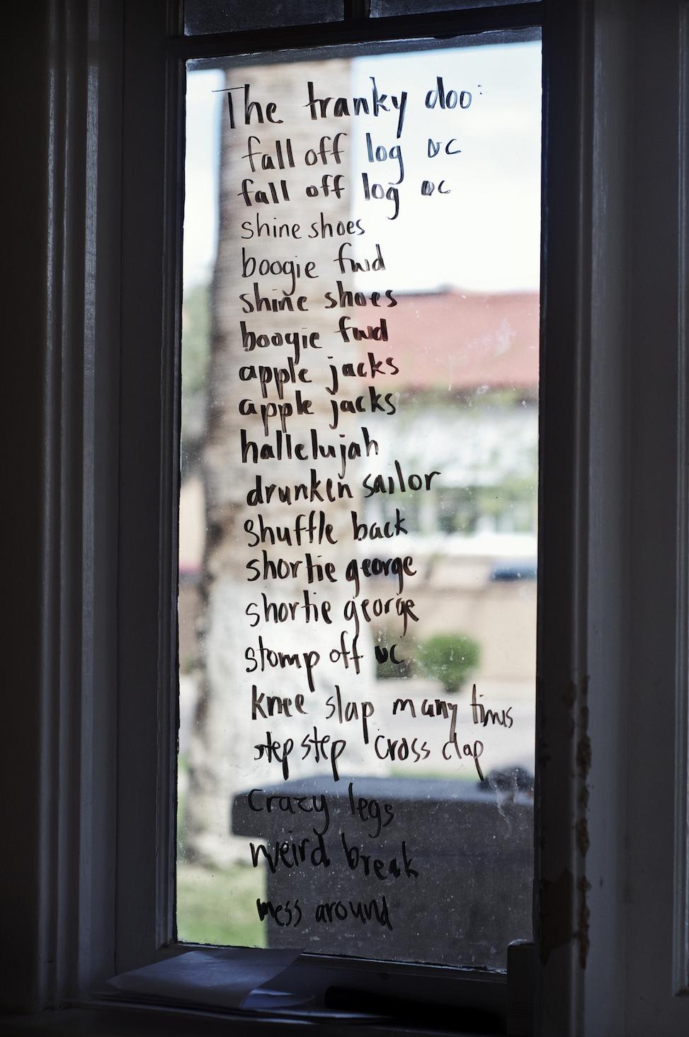 Tranky doo on the window, hoelzen house, phoenix, arizona