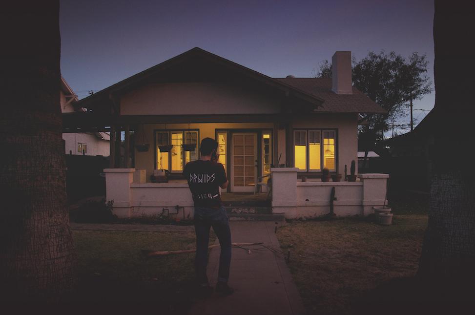 Vincent, Hoelzen house by night, phoenix, arizona