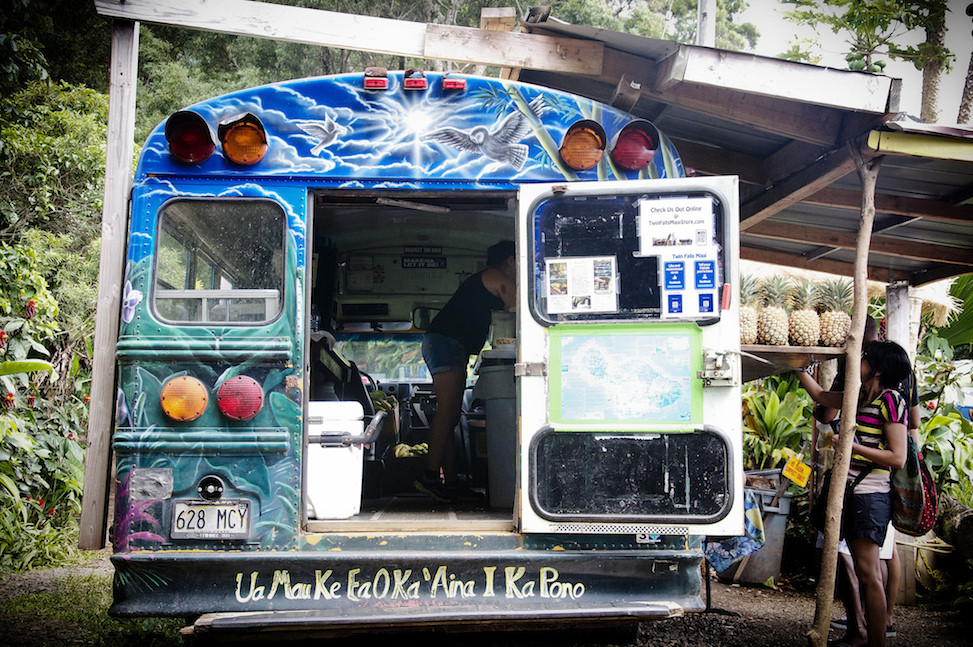 Twin Falls farmstand, Ho'olawa, Hawaii