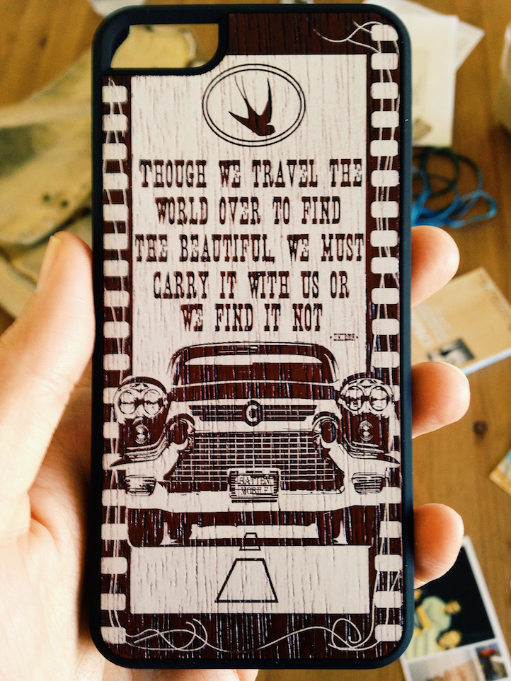 Carved phone case