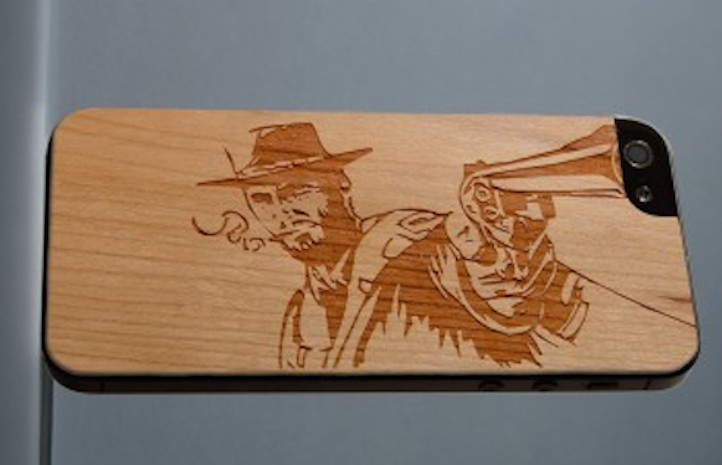 Wild West phone case, Carved, elkhart indiana