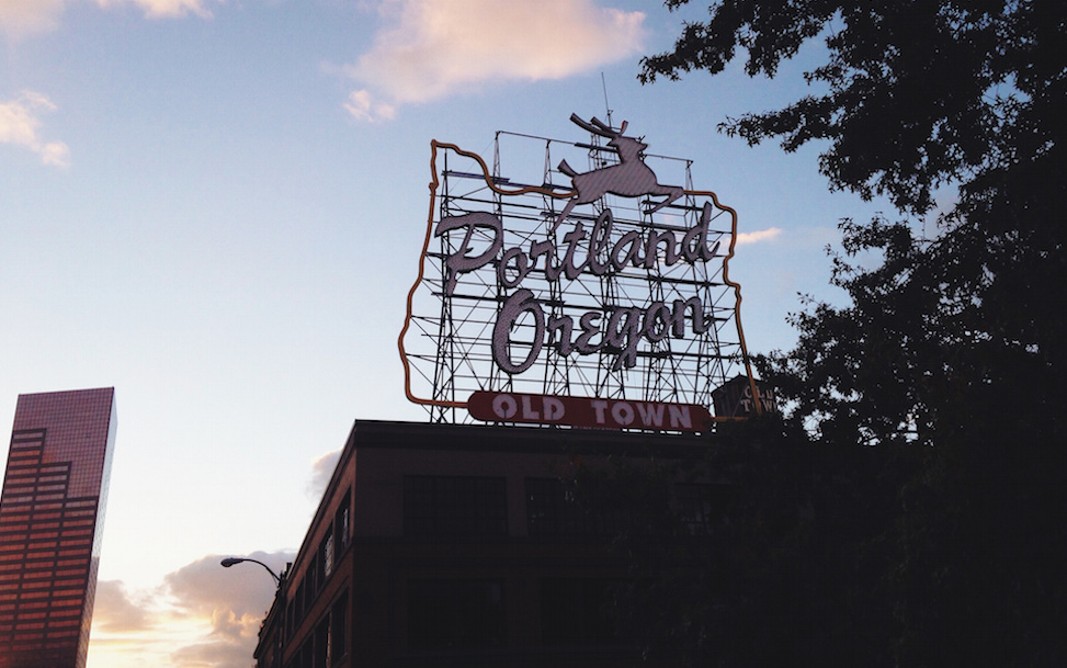 Portland sign, Oregon