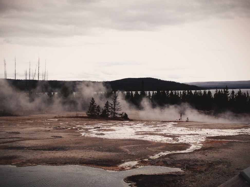 hot spring, yellowstone national park, wyoming