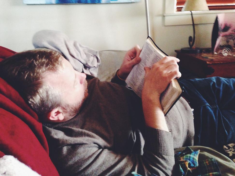 Bryan reading Isaiah, Jackson, Wyoming