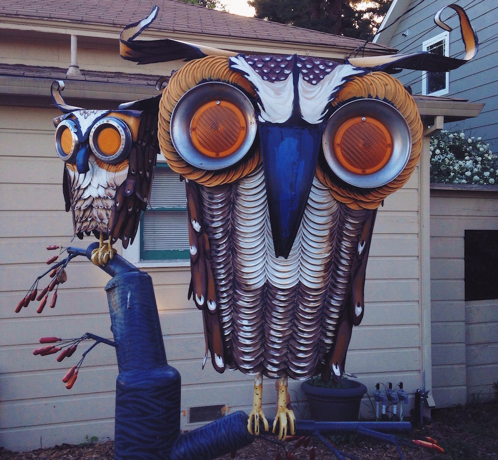 Patrick Amiot sculpture, Sebastopol, California