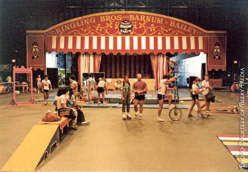 Ringling Bros. Barnum & Bailey Clown College Arena, circa 1982