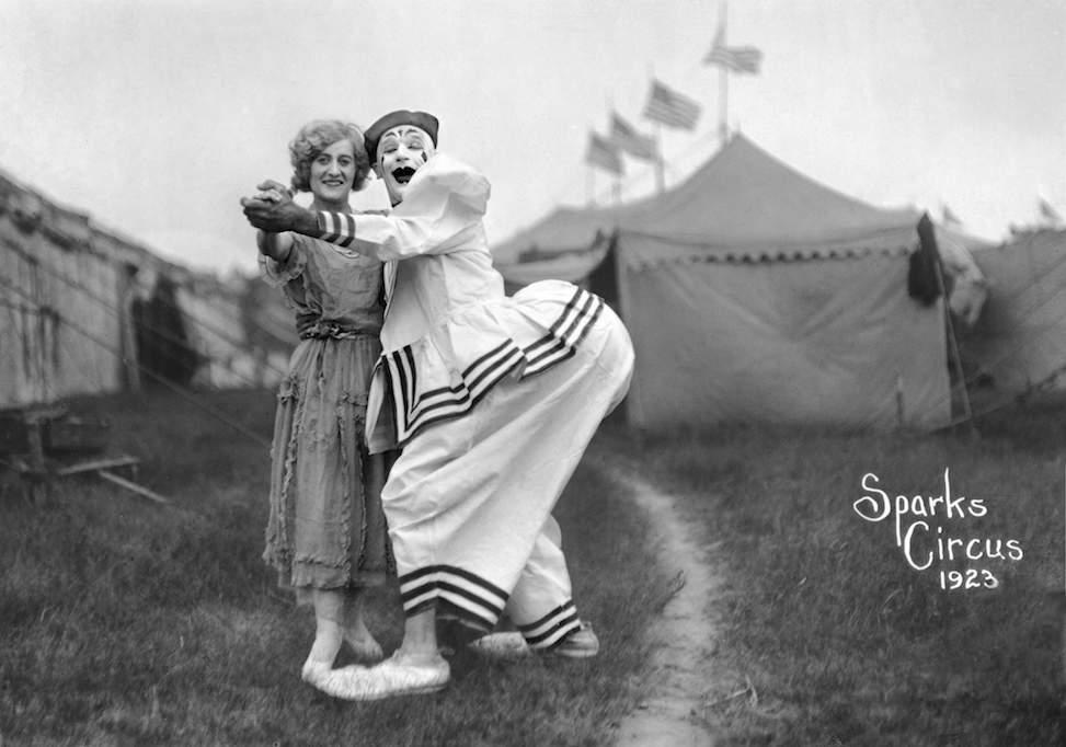 Sparks circus clowns, 1928