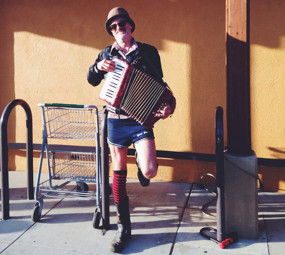 Accordion guy, Fairfax, California