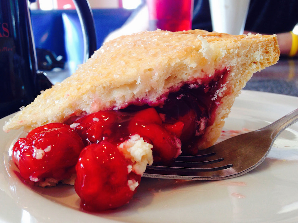 Cherry pie at Twede's Cafe, North Bend, Washington