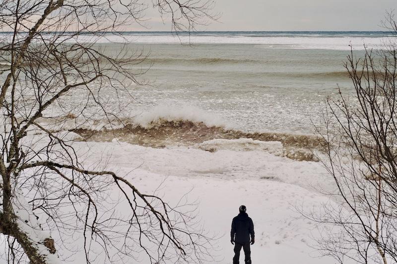 Lake Superior January wave