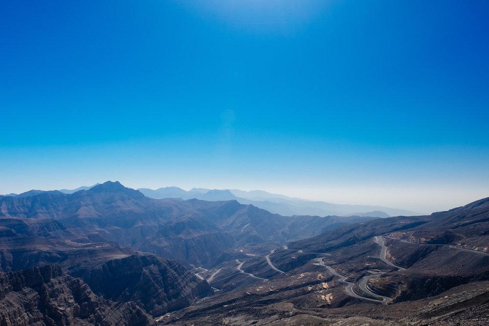 The windy roads of Jabal Jais