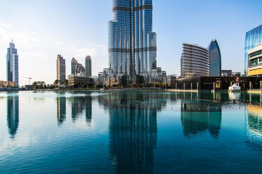 Burj Khalifa reflected