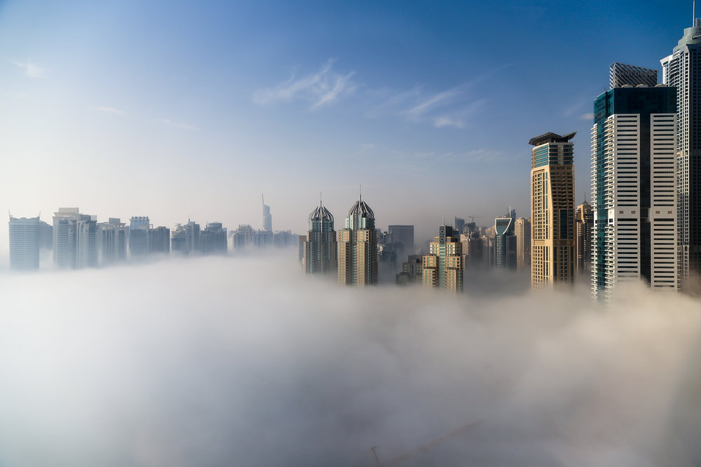 Dubai covered in fog