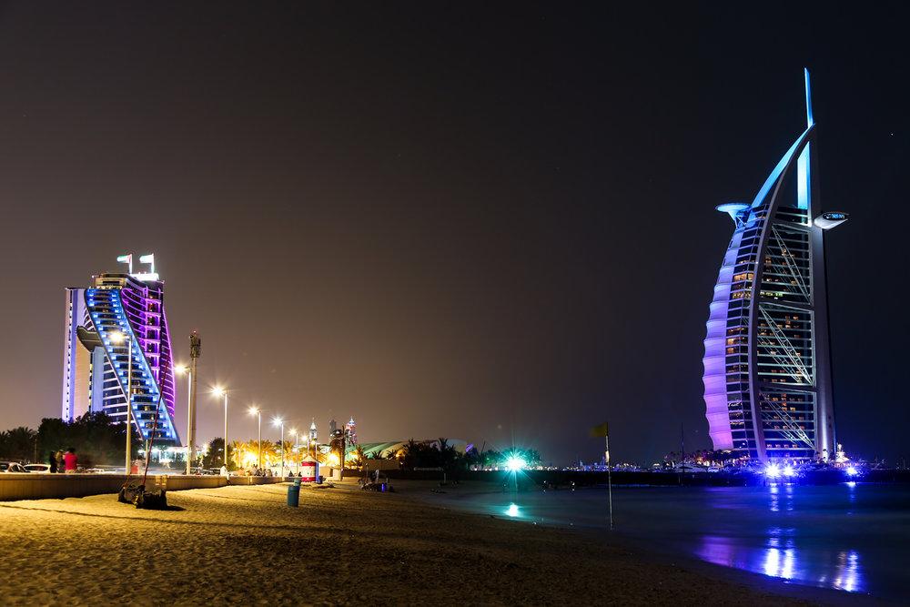 Jumeirah Beach Hotel and Burj Al Arab