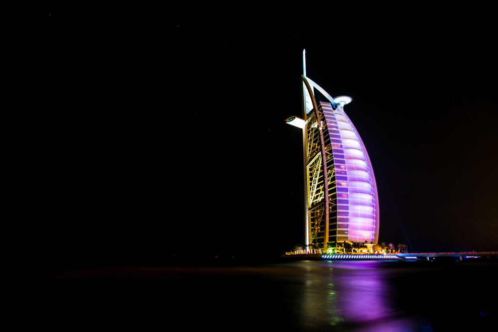 Purple Burj Al Arab