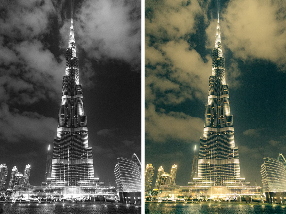 Burj Khalifa with clouds