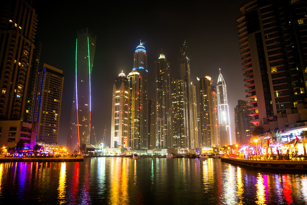 A foggy night in Dubai Marina