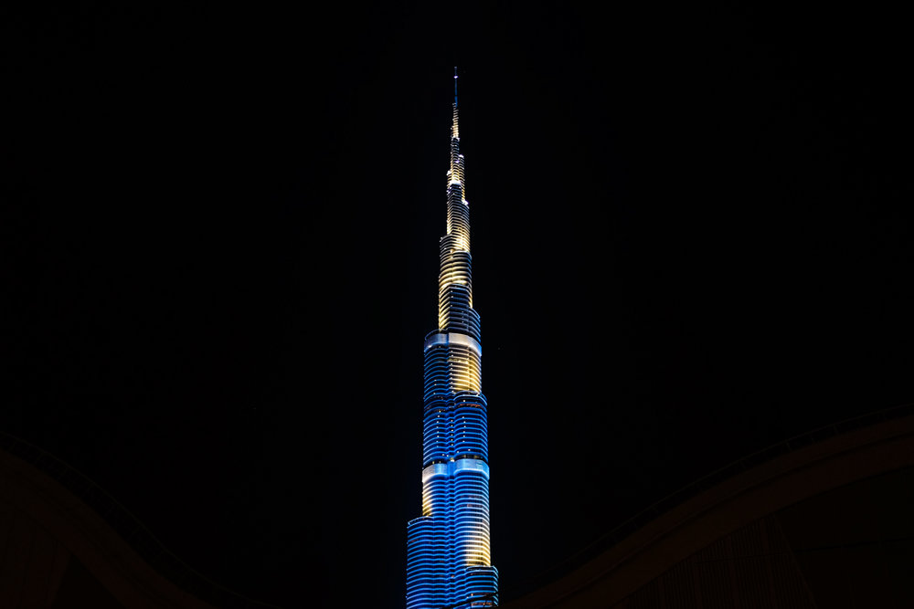 Blue Burj Khalifa