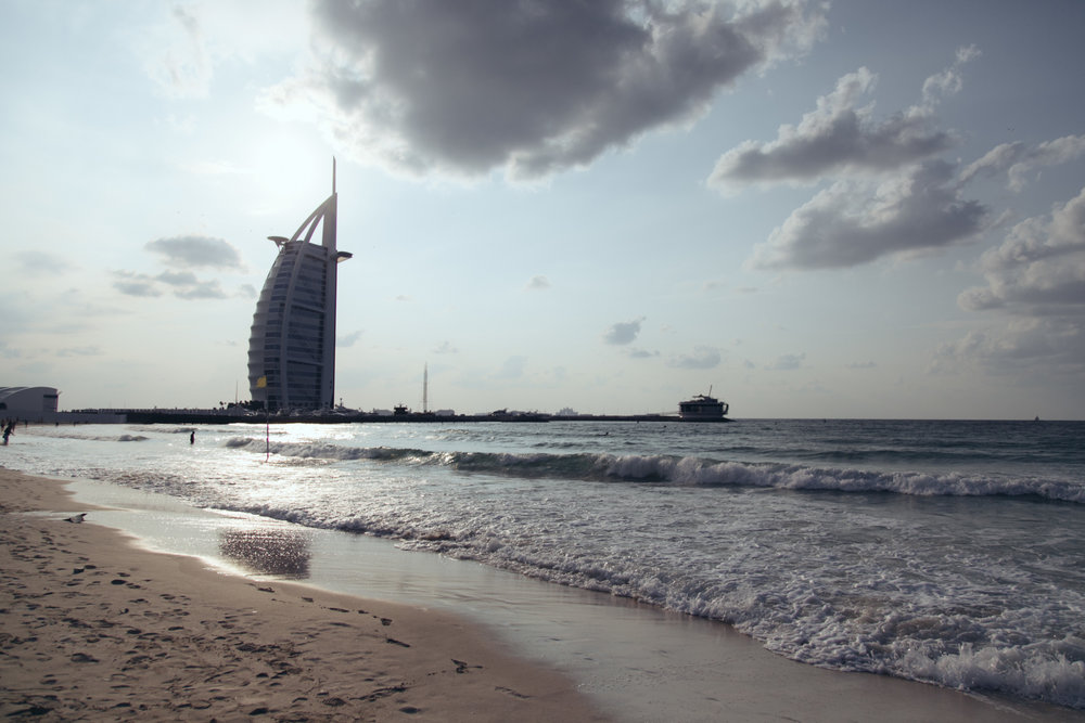 Sweeping tides by the Burj Al Arab