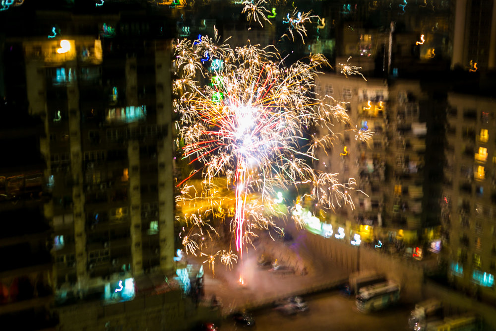 Fireworks in Cairo