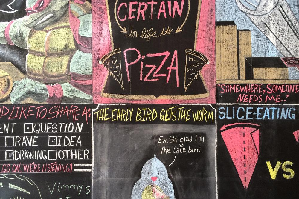 Vinnys Pizza Chalkboard