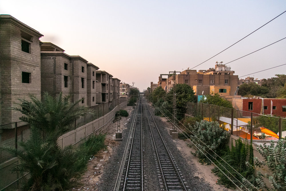 Metro tracks in Cairo