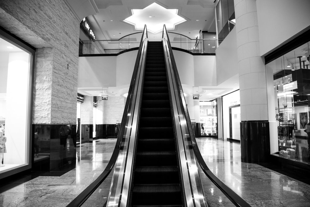 Escalator to the toy store