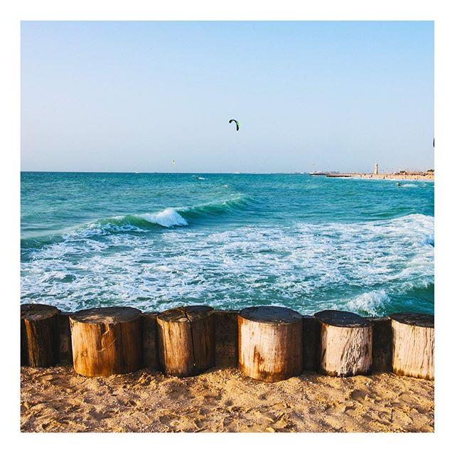 #thebeach . . . #waves #mydubai #dubai #water #sea #kitebeach #igersuae #igersdubai #sand #birds #paragliding