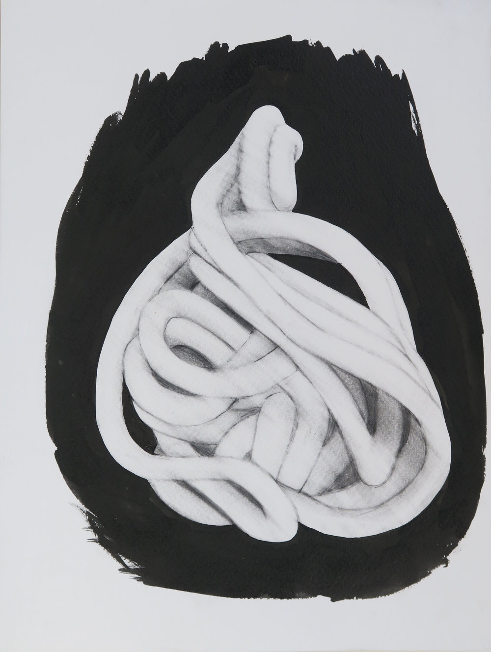 Sculpture drawing XVI, 2013, pencil & ink on paper, 32x24cm