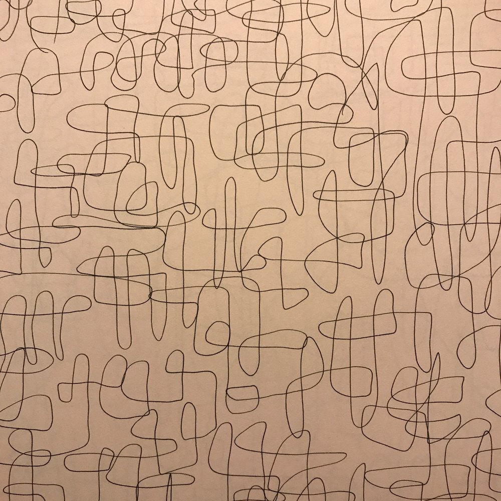 Line drawing series 2019, pen on paper (detail)