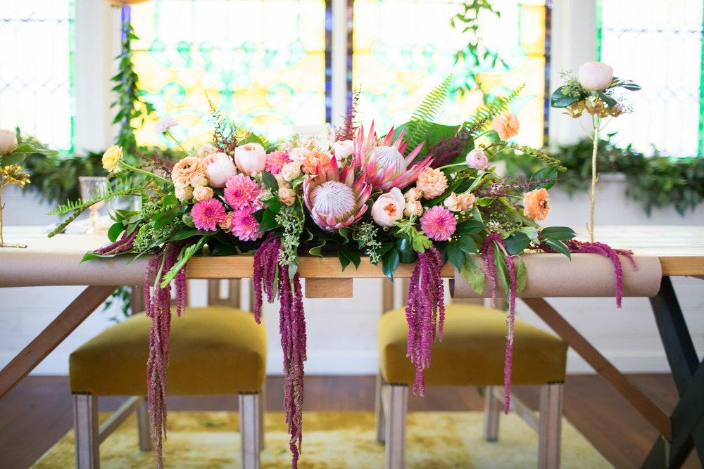 RUBY STREET WEDDING, SWEETHEART TABLE, PROTEA WEDDING