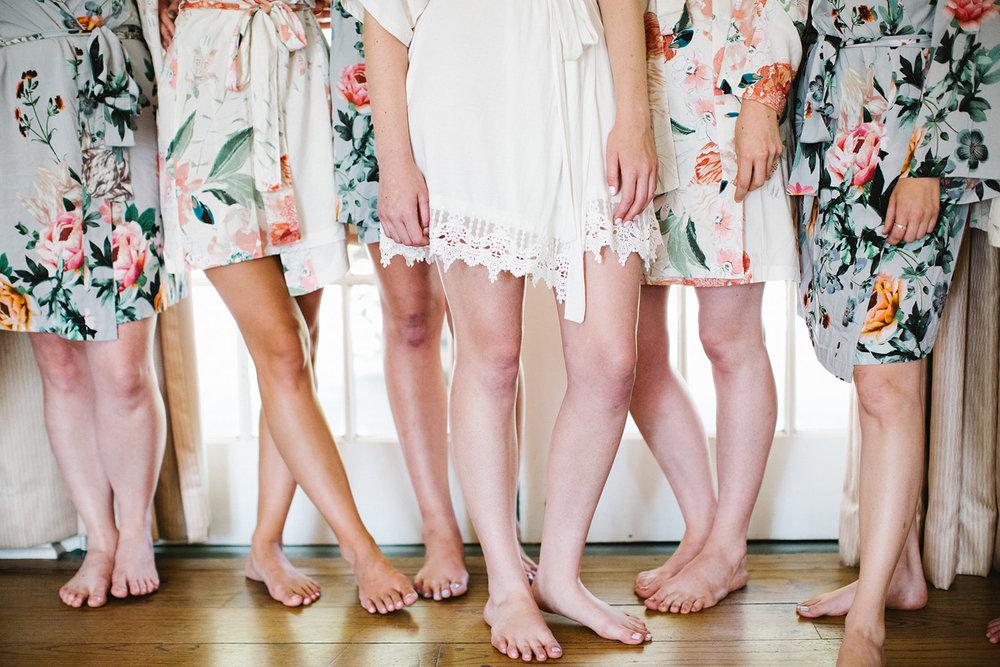 Bridesmaid flower Robes