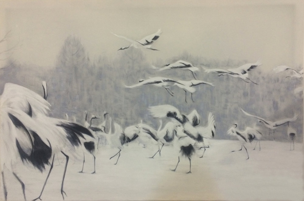 Japanese Cranes*