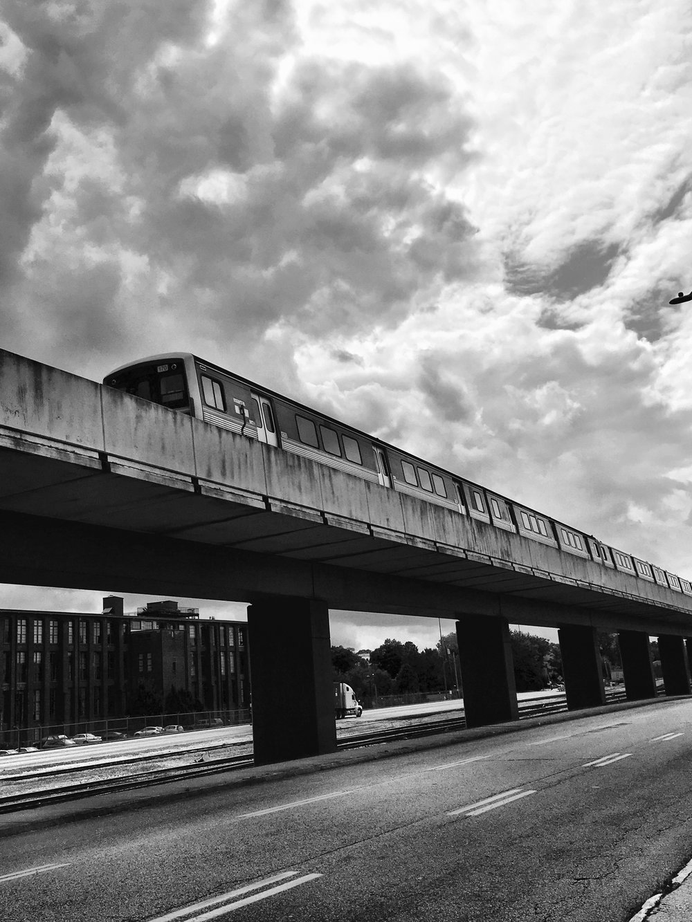 Cabbage Town MARTA Train Black and White.jpg