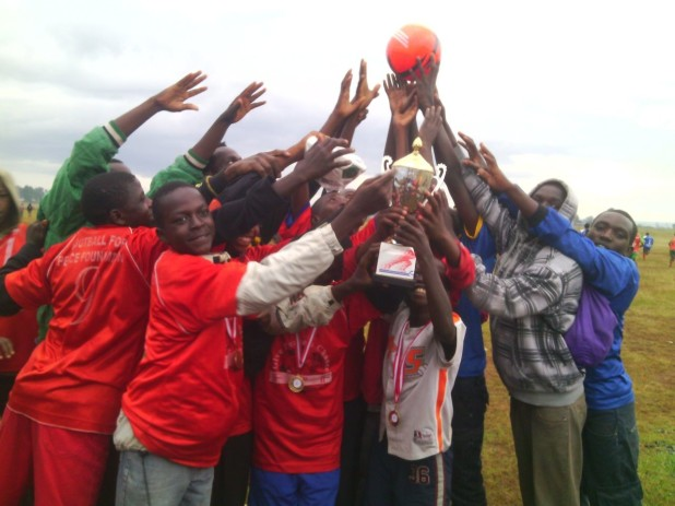 The 2014 World AIDS Day youth soccer tournament, sponsored by The Pocket Square Project