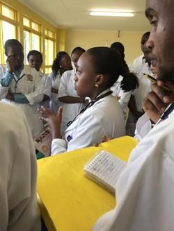 Upendo 2 Team rounding the pediatrics wards.