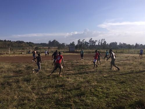 Football at Tumaini Innovation Center.