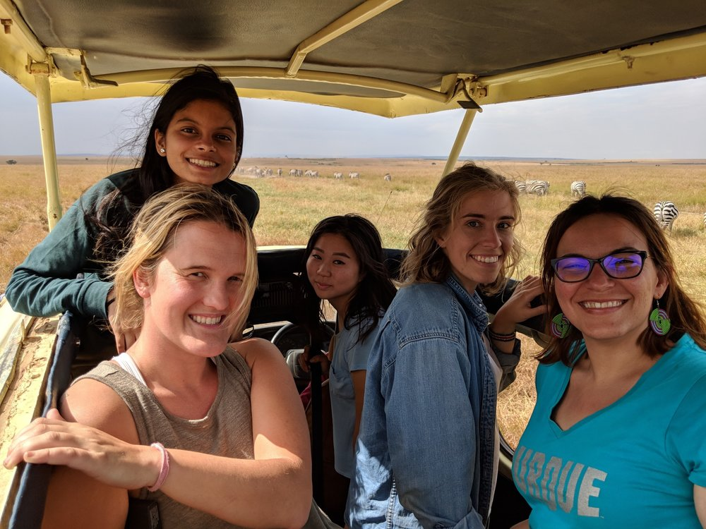 Some of our team on a safari.