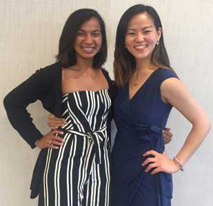 Helen Wu Li (right) is spending the year working with the AMPATH program in Kenya as a Doris Duke Fellow.