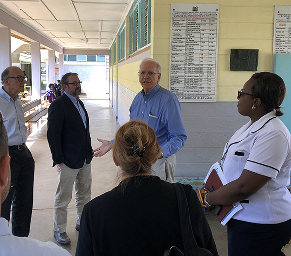 Visitors from the National Institutes of Health toured the rural health clinic in Mosoriot, Kenya.