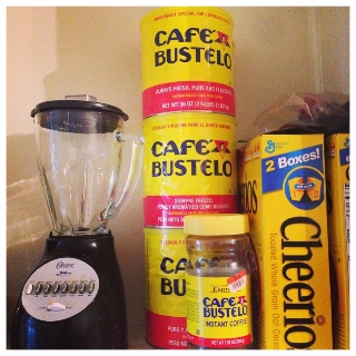 This is how my husband would keep my Cafe Bustelo supply. He was not having me uncaffeinated.