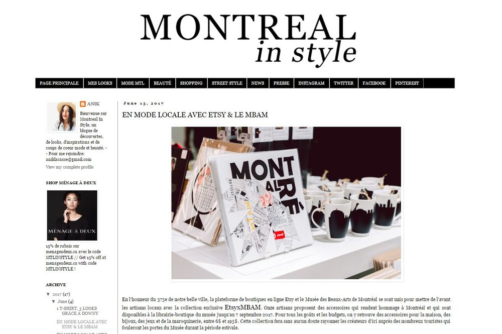 06-2017 | Montreal in Style | Etsy x MBAM