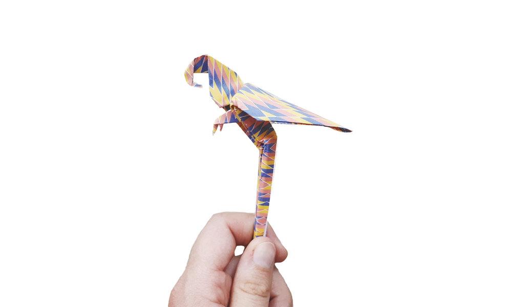 Origami Parrot   7$