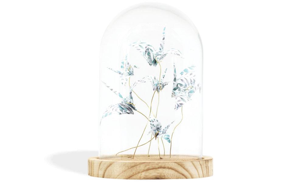 ORIGAMI UNDER GLASS