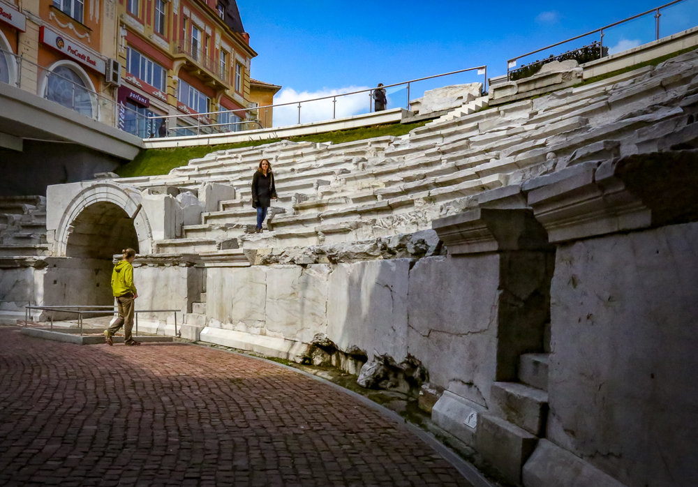 Some of the many fascinating Roman ruins in Plovdiv, Bulgaria