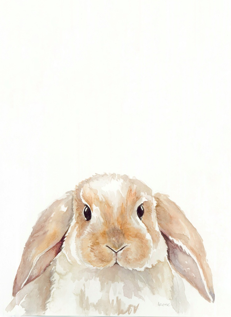 Bunny watercolor | ampersandmother.com