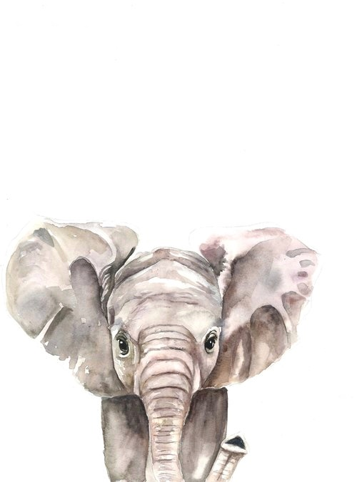 Elephant watercolor | ampersandmother.com